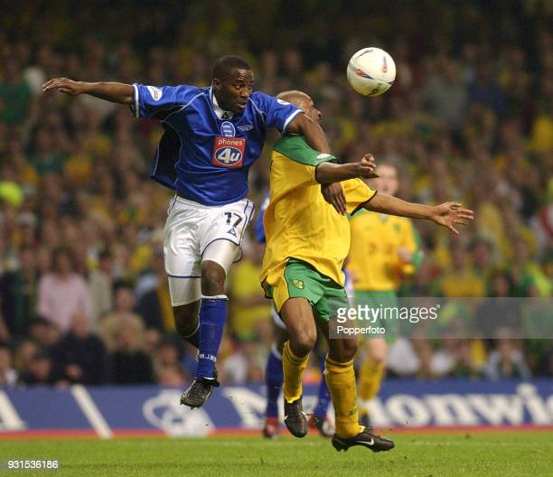 Michael Johnson of Birmingham City and David Nielsen of Norwich City battle for the ball during the Nationwide League Division One PlayOff Final...