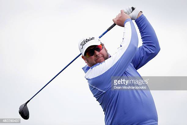 Michael Jonzon of Sweden hits his tee shot on the 11th hole during day one of the NH Collection Open held at La Reserva de Sotogrande Club de Golf on...