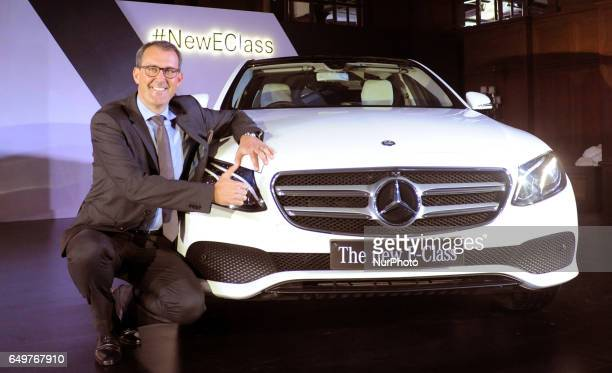 Michael JoppVP Sales and Marketing Mercedes Benz India at the Launch New E Class Mercedes Benz Car on March 082017 in KolkataIndia