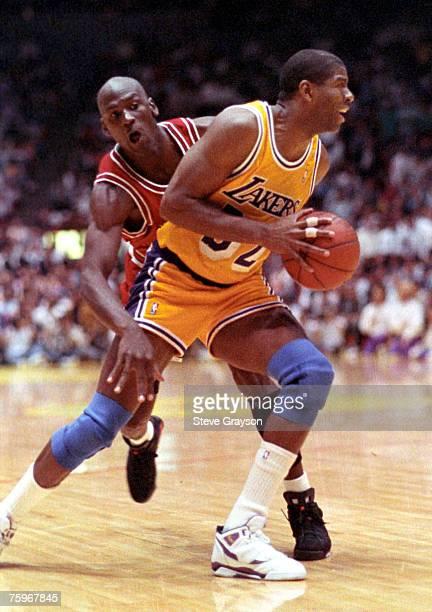 "Michael Jordan and Earvin ""Magic"" Johnson."