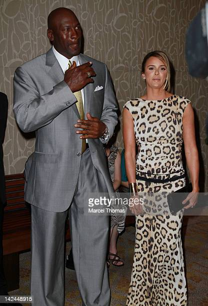 Michael Jordan and fiancee Yvette Prieto attend the 11th Annual Michael Jordan Celebrity Invitational Gala at ARIA Resort Casino at CityCenter on...