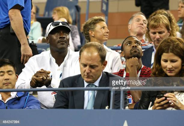 Michael Jordan And His Son Jeffrey Attend Roger Federers Match On Day 2 Of The