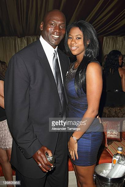 Michael Jordan and Jasmine Jordan attend Jordan All-Star With Fabolous 23 at Isleworth Golf & Country Club on February 25, 2012 in Windermere,...