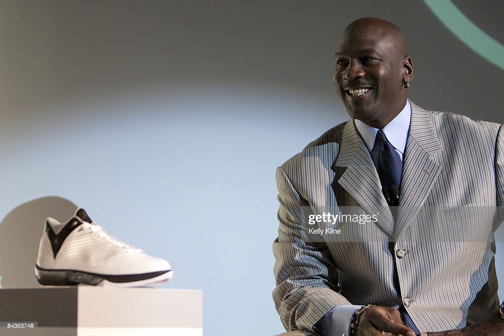 Michael Jordan and the Jordan Brand reveal the Air Jordan 2009 to the world at press event at The Event Space on January 8, 2009 in New York City.