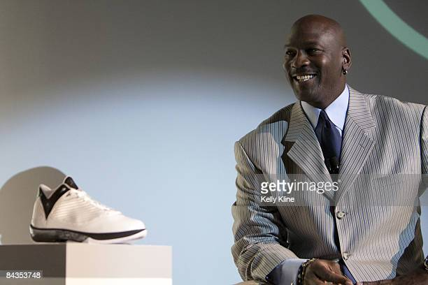 Michael Jordan and the Jordan Brand reveal the Air Jordan 2009 to the world at press event at The Event Space on January 8 2009 in New York City