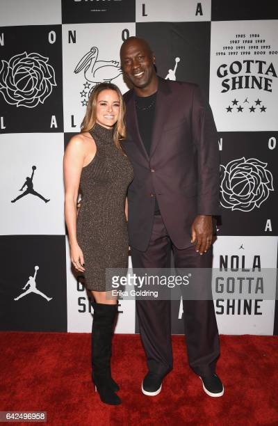 Michael Jordan and Yvette Prieto attend Jordan Brand 2017 AllStar Party at Seven Three Distilling Co on February 17 2017 in New Orleans Louisiana