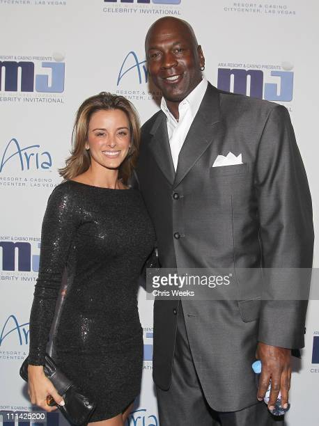 Michael Jordan and Yvette Prieto attend the 10th Annual Michael Jordan Celebrity Invitational Celebration At ARIA Resort Casinoon April 1 2011 in Las...