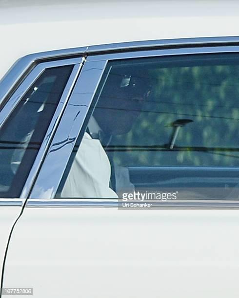 Michael Jordan arrives for his wedding at Bethesdabythe Sea church on April 27 2013 in Palm Beach Florida