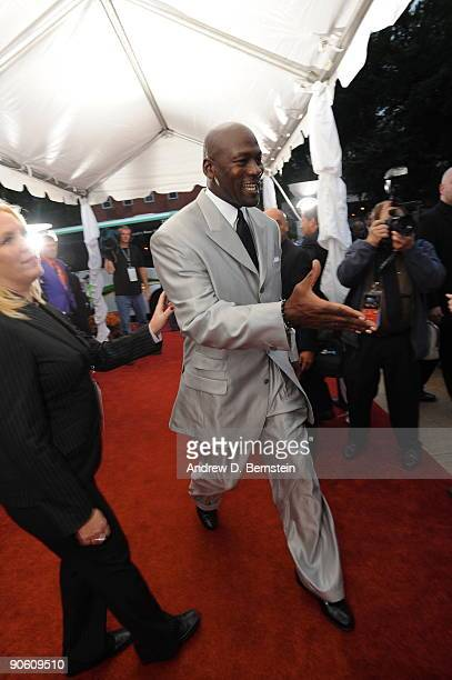 Michael Jordan arrives on the red carpet at the Basketball Hall of Fame Class of 2009 Induction Ceremony at the Symphony Hall on September 11 2009 in...
