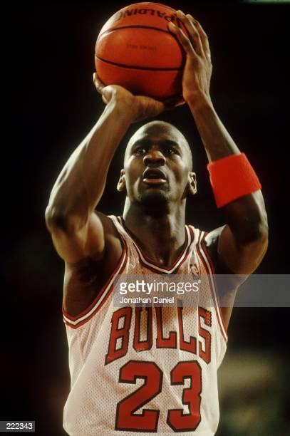 Michael Jordan at the free throw line during the 1988-89 season. Mandatory Credit: Jonathan Daniel/ALLSPORT