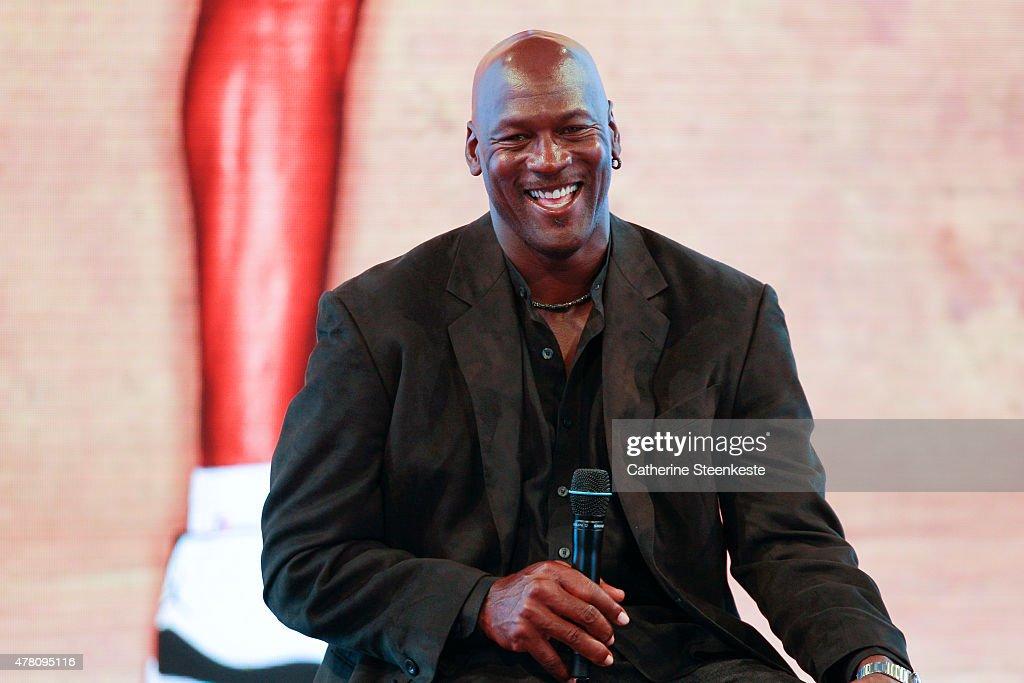 Michael Jordan Celebrates the 30th Anniversary of Air Jordan At Palais de Tokyo In Paris : News Photo