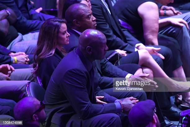Michael Jordan attends The Celebration of Life for Kobe Gianna Bryant at Staples Center on February 24 2020 in Los Angeles California