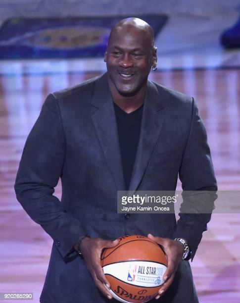 Michael Jordan attends the NBA AllStar Game 2018 at Staples Center on February 18 2018 in Los Angeles California