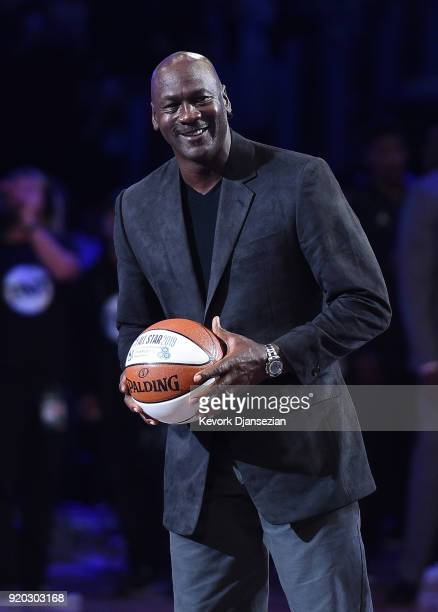 Michael Jordan attends the NBA All-Star Game 2018 at Staples Center on February 18, 2018 in Los Angeles, California.