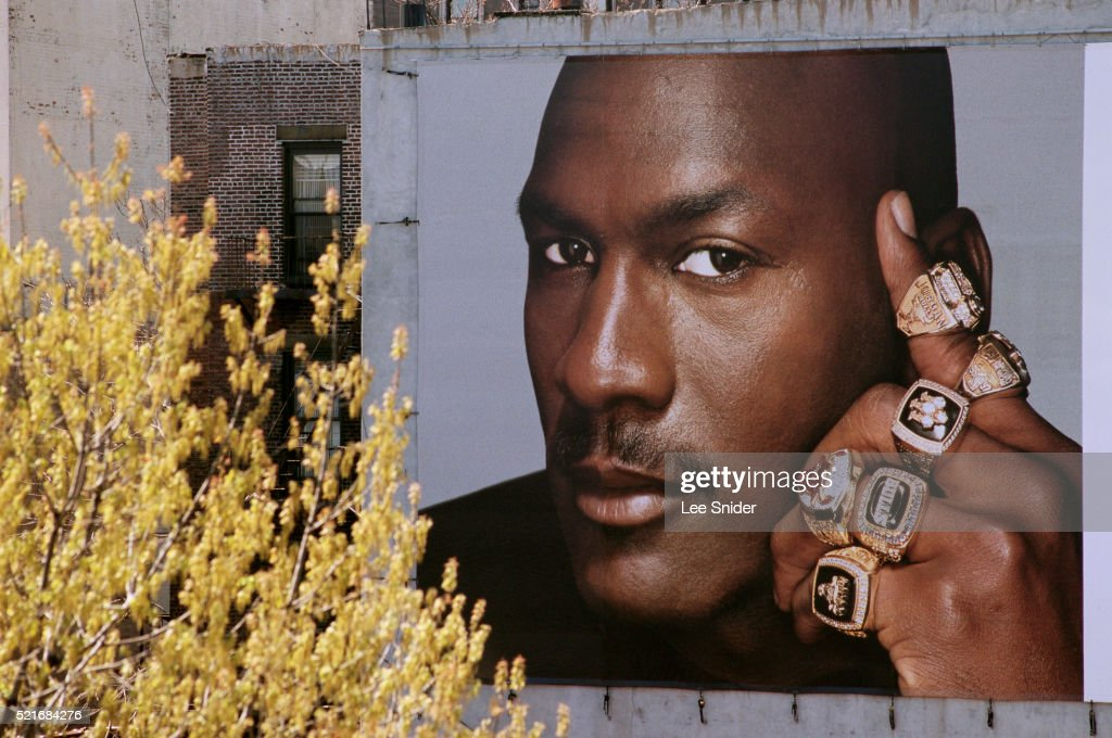 Michael Jordan Billboard : Stock Photo