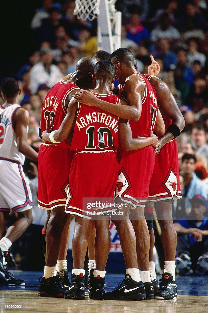 MIchael Jordan, BJ Armstrong a...