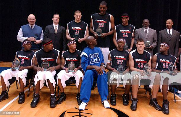 Michael Jordan Classic Black Team front row left to right Andrew Lavender Brandon Cotton Gary Ervin Michael Jordan Vakeaton Wafer Kris Humphries...