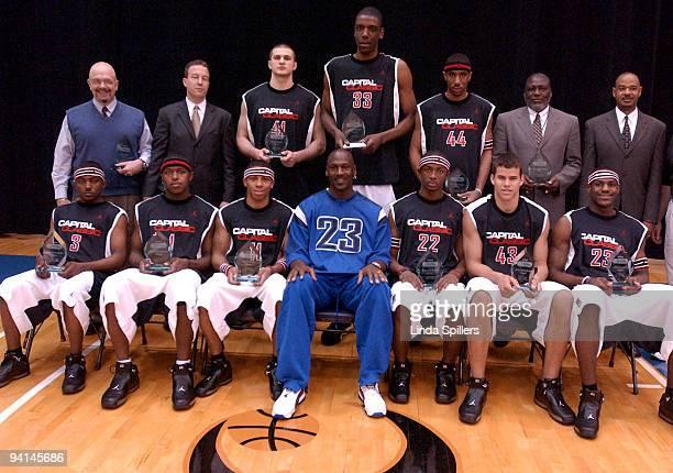 Michael Jordan Classic Black Team front row left to right Andrew Lavender Brandon Cotton Gary Ervin Michael Jordan Vakeaton Wafer Kris Humphries...