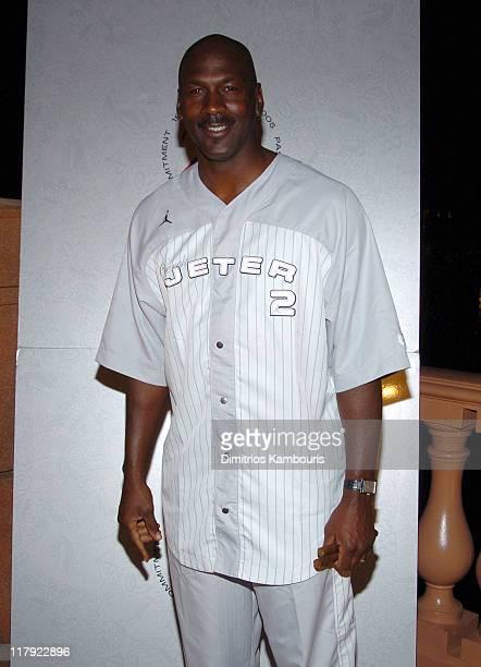 Michael Jordan during Air Jordan Celebrates 20th Anniversary with Sneak Peek of Air Jordan XX to Kick Off Michael Jordan Celebrity Invitational at...
