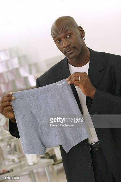 Michael Jordan during Behind the Scenes with Michael Jordan at <i>Hanes</i> ComfortSoft Underwear Advertising Shoot at Sherman Square Mall in Chicago...
