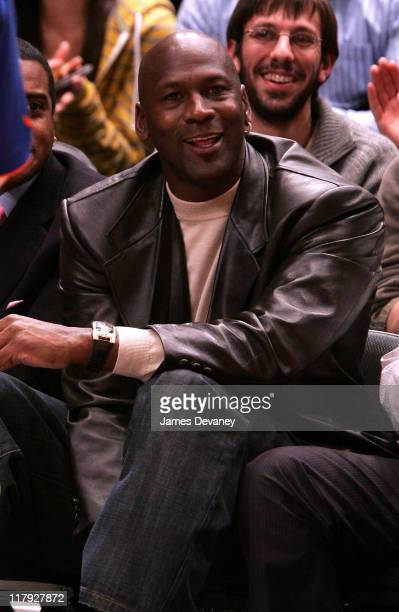 Michael Jordan during Celebrities Attend Charlotte Bobcats vs New York Knicks Game December 20 2006 at Madison Square Garden in New York City New...