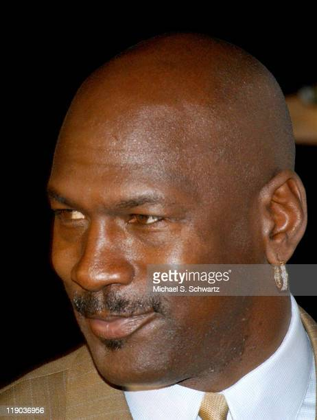 Michael Jordan during Jordan Elevates the Laughs at NBA All Star with Comedy Court at Wadsworth Theatre in Los Angeles California United States