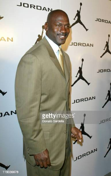 Michael Jordan during Michael Jordan Elevates the Laughs at NBA All Star with Comedy Court February 13 2004 at Wadsworth Theatre in Hollywood...