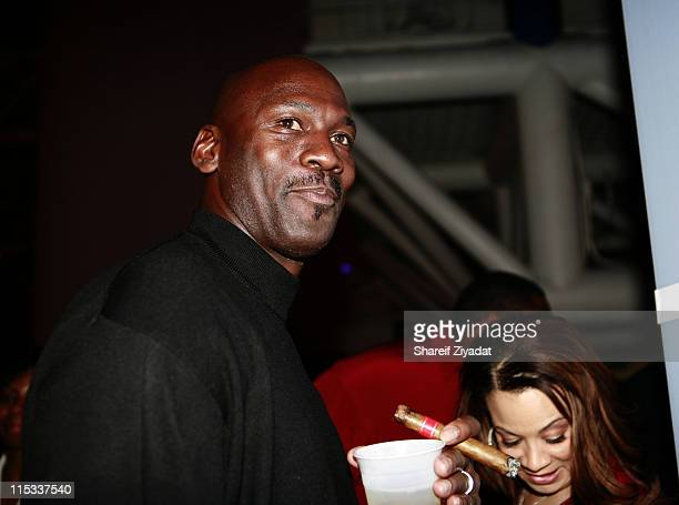 Michael Jordan during NBA Players Association Gala at Convention Center in Houston Texas United States