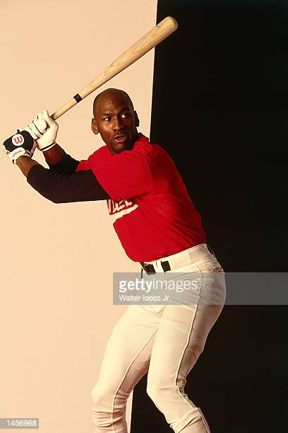 Michael Jordan of the Birmingham Barons poses for a portrait as a baseball player NOTE TO USER User expressly acknowledges and agrees that by...