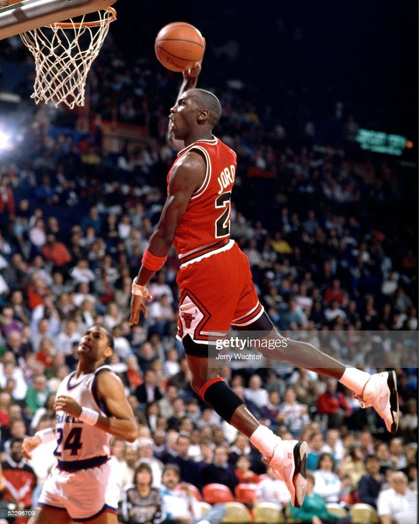 Michael Jordan Action Portrait : News Photo