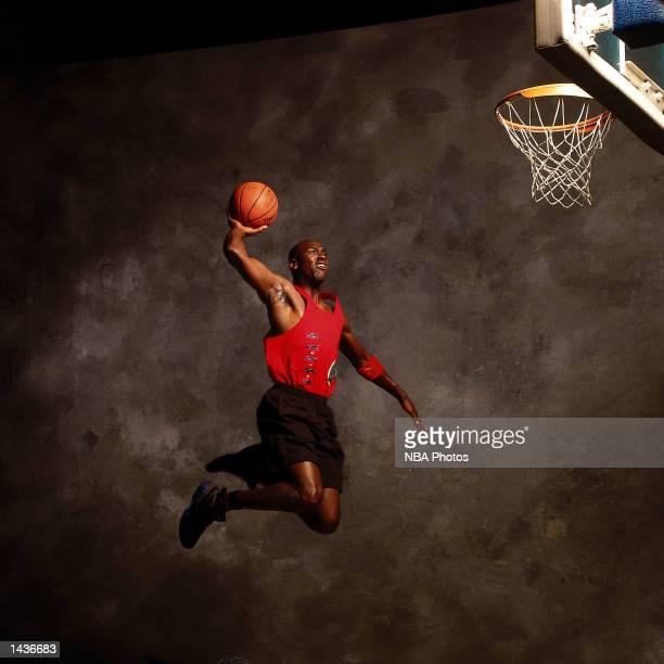 Michael Jordan of the Chicago Bulls poses for a mock action portrait in 1991 during a photo shoot in Chicago Illinois NOTE TO USER User expressly...