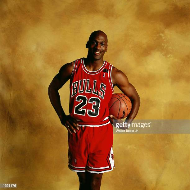 Michael Jordan of the Chicago Bulls poses for a portrait in Chicago, Illinois. NOTE TO USER: User expressly acknowledges and agrees that, by...