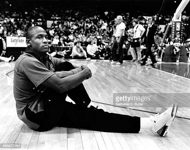 Michael Jordan of the Chicago Bulls stretches before the 1989 AllStar Game at the Astrodome in Houston Texas 1989 NOTE TO USER User expressly...