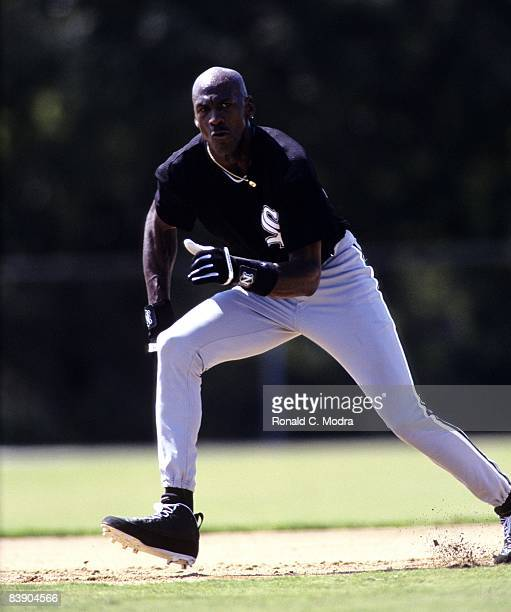 Michael Jordan of the Chicago White Sox runs the bases in 1994 in Sarasota Florida