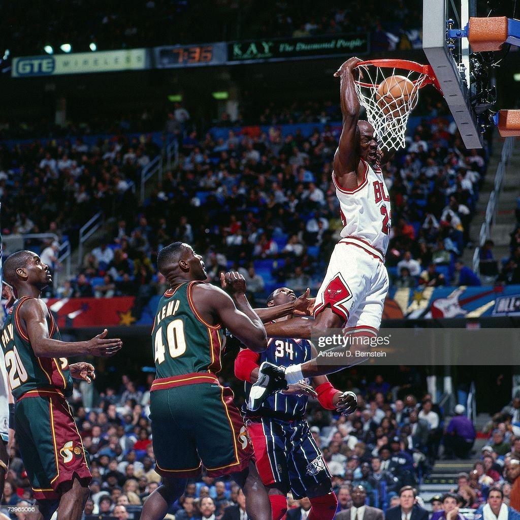 1997 NBA All-Star Game Game : News Photo