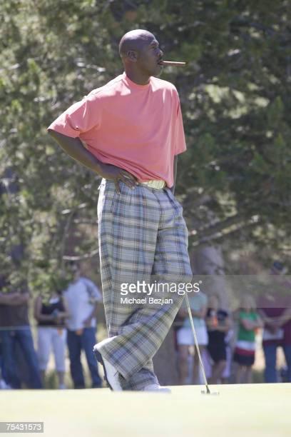 Michael Jordan plays at the American Century Celebrity Golf Tournament