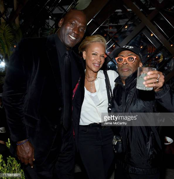 Michael Jordan Tonya Lewis Lee and Spike Lee attend the Cincoro Tequila launch at CATCH Steak on September 18 2019 in New York City