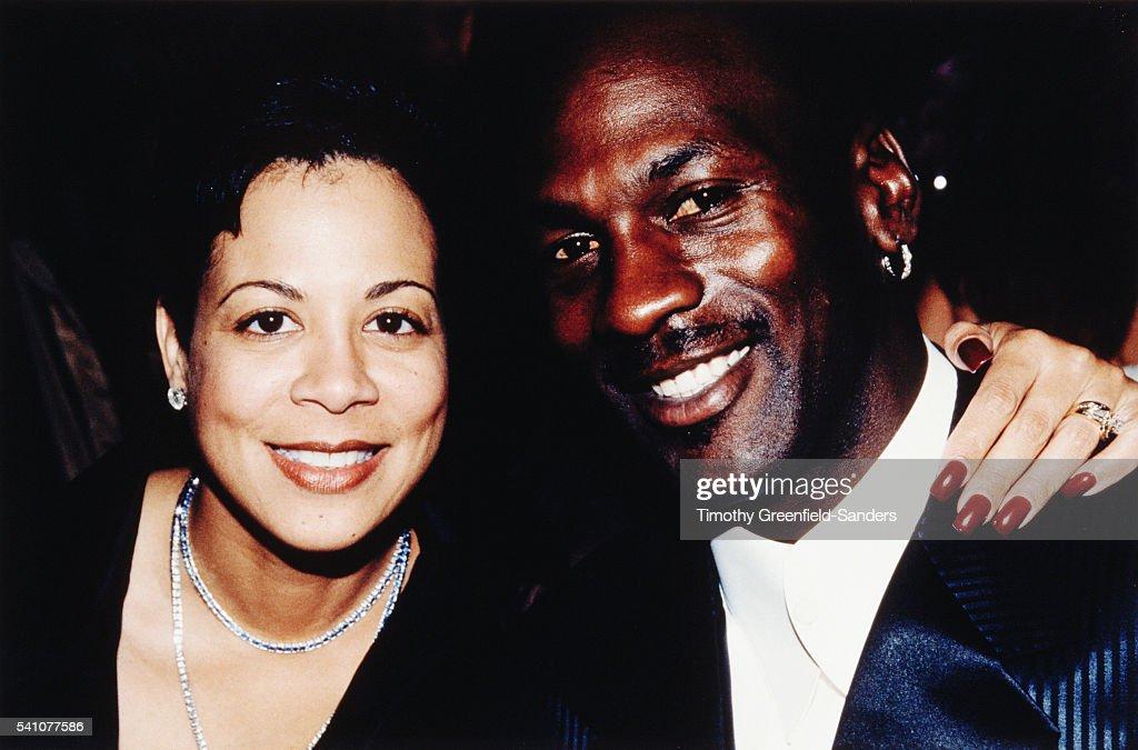 Michael Jordan with His Wife Juanita