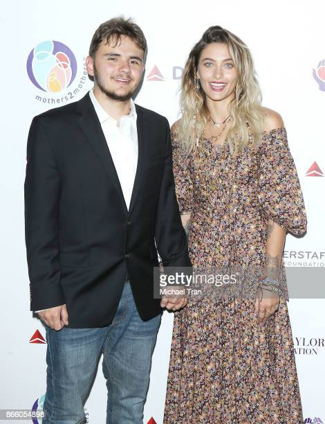 Michael Joseph Jackson Jr aka Prince Jackson and Paris Jackson attend the mothers2mothers and ETAF event held on October 24 2017 in Beverly Hills...