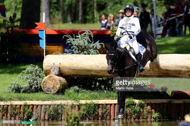 Michael Jung of Germany rides fischerRocana FST during the CIC 3 star cross country at the Messmer Trophy on June 17 2017 in Luhmuhlen Germany