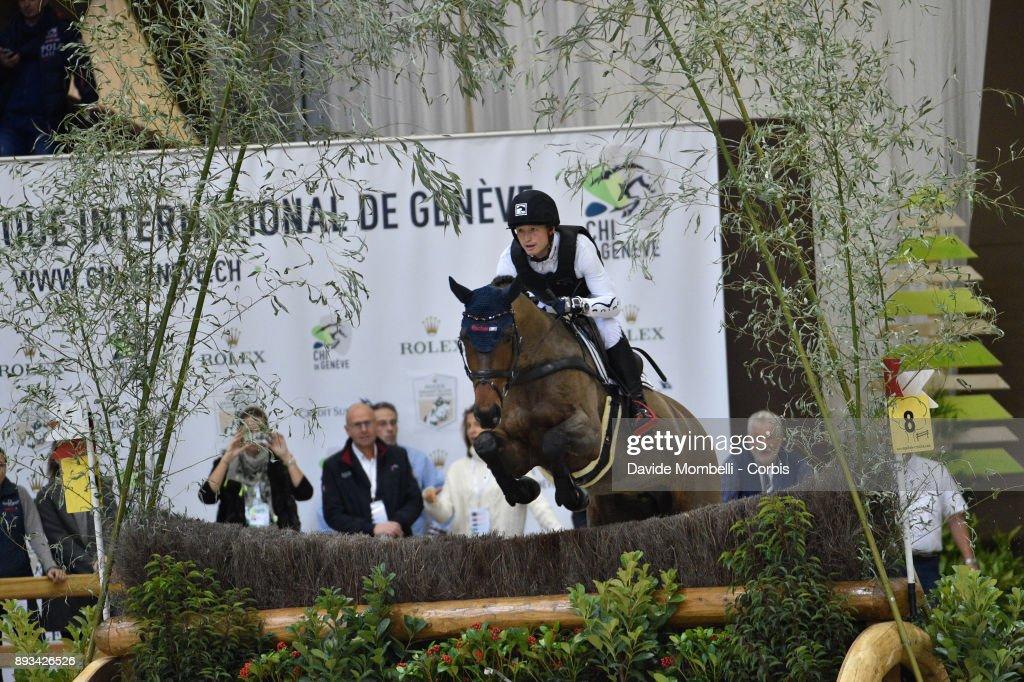Michael JUNG, of Germany, riding Corazon, during the Cross Indoor sponsored by Tribune de Genève , Rolex Grand Slam Geneva 2017