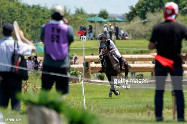 Michael Jung of Germany riding Fischerwild Wave competes in the Cross-Country during day two of the Equestrian Tokyo 2020 Test Event at Sea Forest...