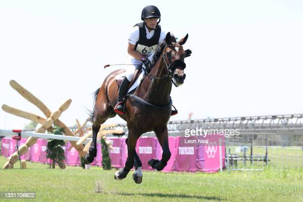 Michael Jung of Team Germany riding Chipmunk FRH competes during the Eventing Cross Country Team and Individual on day nine of the Tokyo 2020 Olympic...