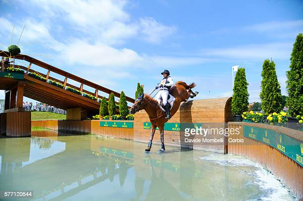 Michael Jung rides to first place on Fischer Takinou in the DHLPrize Eventing CICO3 Nation Cup Cross Country event on July 16 2016 in Aachen Germany