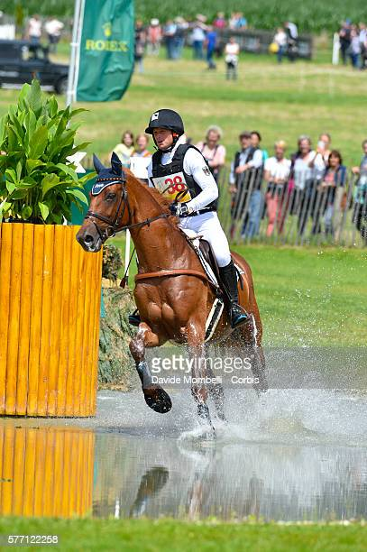 Michael Jung rides to first place on Fischer Takinou in the DHL-Prize Eventing CICO3 Nation Cup Cross Country event on July 16, 2016 in Aachen,...