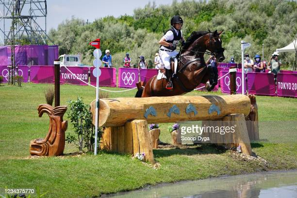Michael Jung riding Chipmunk FRH during the Eventing Cross Country Team and Individual at Sea Forest Cross-Country Course on August 1, 2021 in Tokyo,...