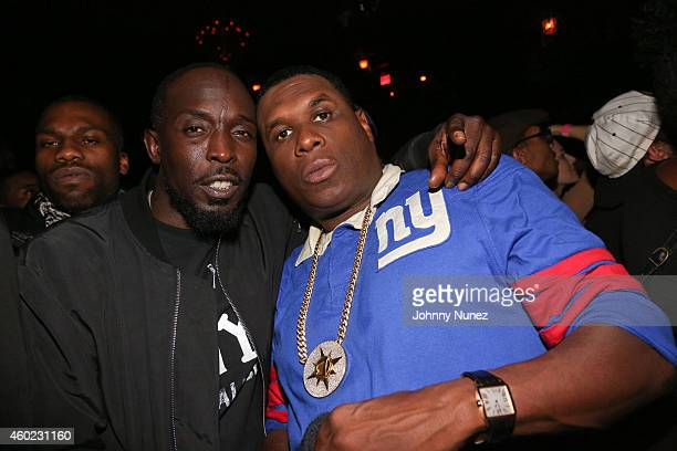 Michael K Williams and Jay Electronica attend Common And Jay Electronica in concert at Irving Plaza on December 9 2014 in New York City