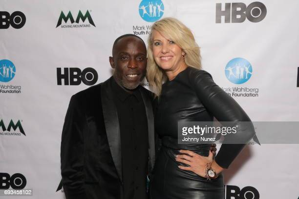 Michael K Williams and President of Moving Mountains Sarah Hasted attend 2017 Moving Mountains Award Presentation on June 6 2017 in New York City