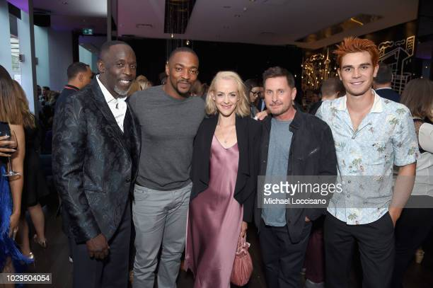 Michael K Williams Anthony Mackie Jena Malone Emilio Estevez and KJ Apa attend Entertainment Weekly's Must List Party at the Toronto International...