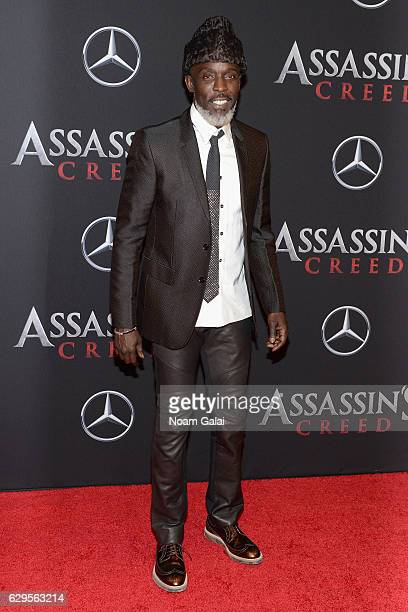 Michael K Williams attends the 'Assassin's Creed' New York Premiere at AMC Empire 25 theater on December 13 2016 in New York City